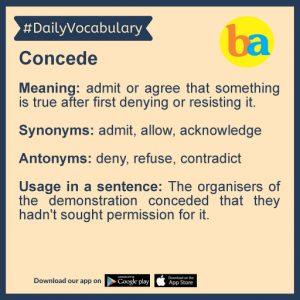 Daily Vocabulary: 30th January_50.1
