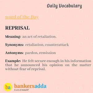 Daily Vocabulary : 20th February_50.1