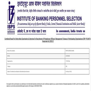 Success Story of Pratik Dusane Selected as IBPS PO in Union Bank of India_50.1