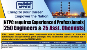 NTPC Recruitment 2020: Apply for 275 Engineer and Assistant Chemist Posts_60.1