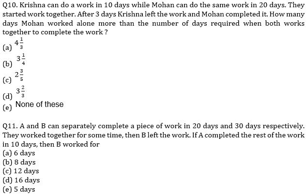 IBPS PO Prelims Quantitative Aptitude Mini Mock 9- Time & Work and Pipes & Cistern_90.1