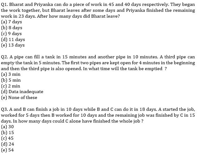 IBPS PO Prelims Quantitative Aptitude Mini Mock 9- Time & Work and Pipes & Cistern_60.1