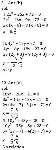IBPS PO Prelims Quantitative Aptitude Mini Mock 16- Quadratic Inequalities_100.1