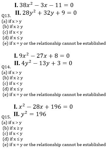 IBPS PO Prelims Quantitative Aptitude Mini Mock 16- Quadratic Inequalities_90.1