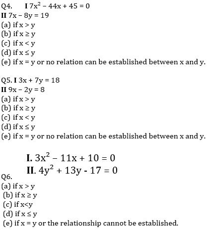 IBPS PO Prelims Quantitative Aptitude Mini Mock 16- Quadratic Inequalities_60.1