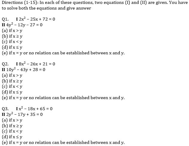 IBPS PO Prelims Quantitative Aptitude Mini Mock 16- Quadratic Inequalities_50.1