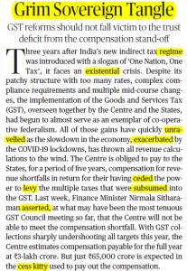 The Hindu Editorial Vocabulary- Grim Sovereign Tangle | 3 September_50.1