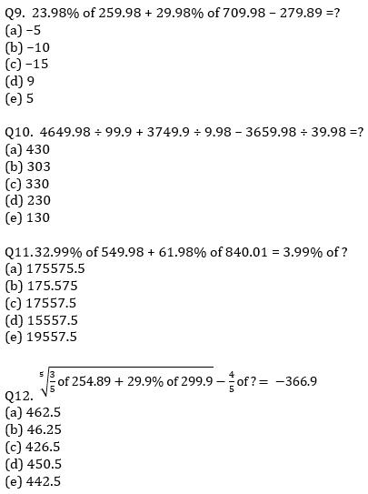 IBPS RRB Prelims Quantitative Aptitude Mini Mock 5- Approximation_70.1
