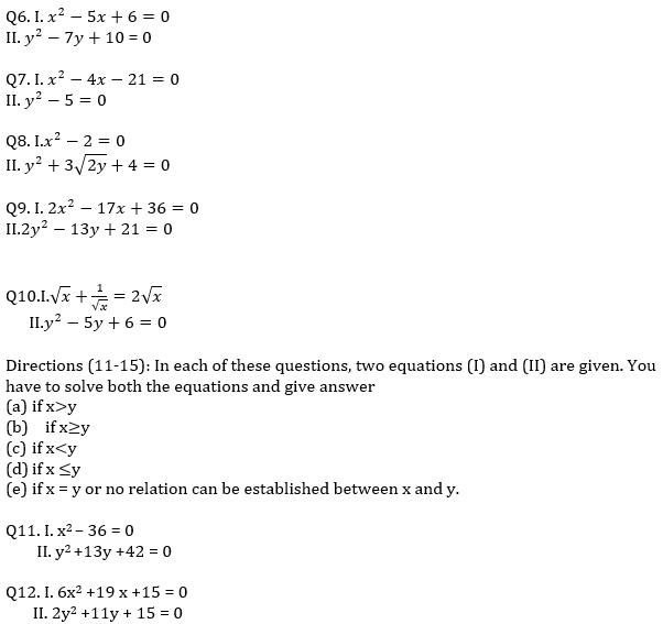 IBPS RRB Prelims Quantitative Aptitude Mini Mock 6- Quadratic Inequalities_60.1
