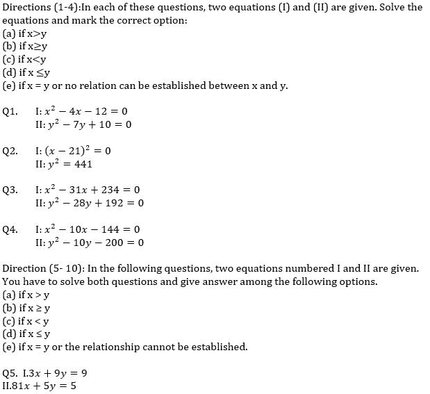 IBPS RRB Prelims Quantitative Aptitude Mini Mock 6- Quadratic Inequalities_50.1