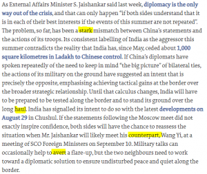 The Hindu Editorial Vocabulary- Too Close for Comfort | 7 September_60.1
