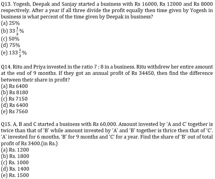 IBPS PO Prelims Quantitative Aptitude Mini Mock 23- Mensuration, Profit & Loss and Partnership_100.1