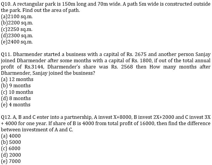 IBPS PO Prelims Quantitative Aptitude Mini Mock 23- Mensuration, Profit & Loss and Partnership_90.1
