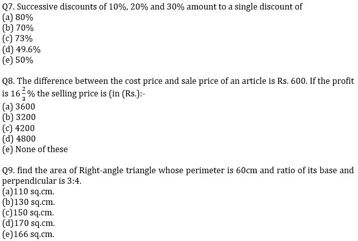 IBPS PO Prelims Quantitative Aptitude Mini Mock 23- Mensuration, Profit & Loss and Partnership_80.1