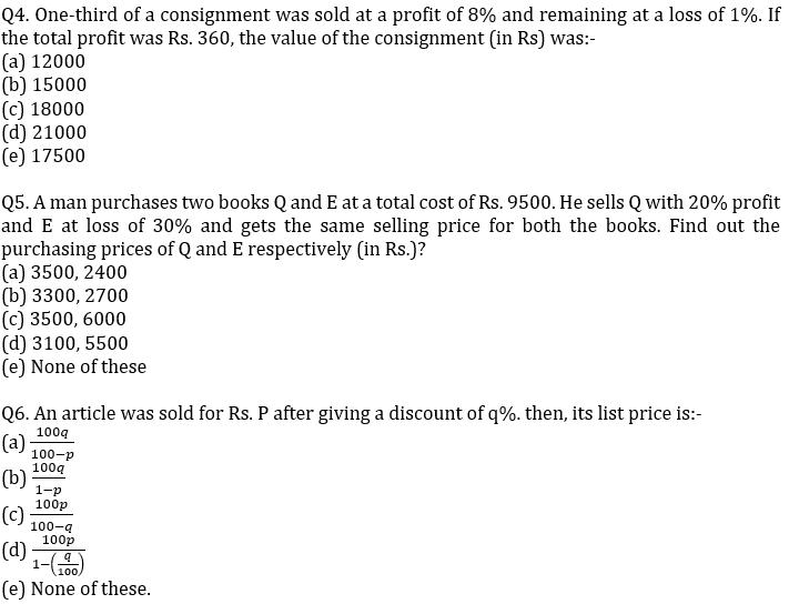 IBPS PO Prelims Quantitative Aptitude Mini Mock 23- Mensuration, Profit & Loss and Partnership_70.1