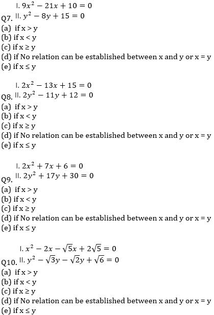 IBPS RRB Prelims Quantitative Aptitude Mini Mock 11- Quadratic Inequalities and Approximation_70.1