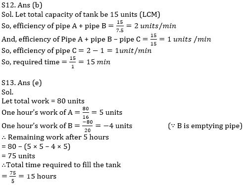 IBPS PO Prelims Quantitative Aptitude Mini Mock 25- Mixture & Allegation, Time & Work and Pipes & Cisterns_140.1