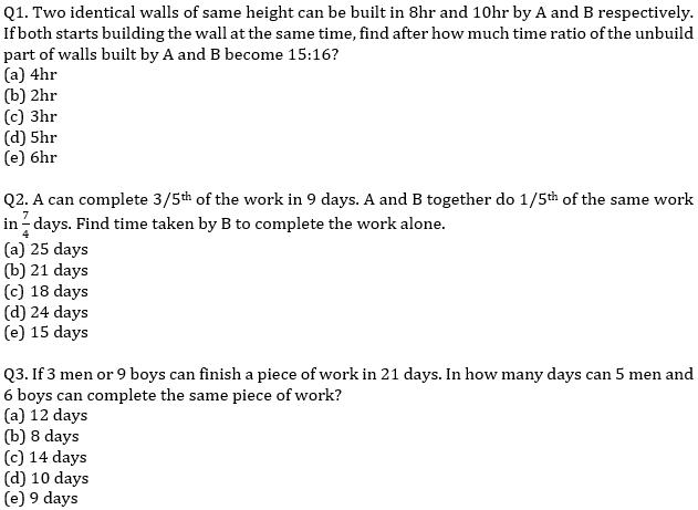 IBPS PO Prelims Quantitative Aptitude Mini Mock 25- Mixture & Allegation, Time & Work and Pipes & Cisterns_50.1