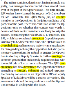 The Hindu Editorial Vocabulary- The Second Chair   14 September_60.1