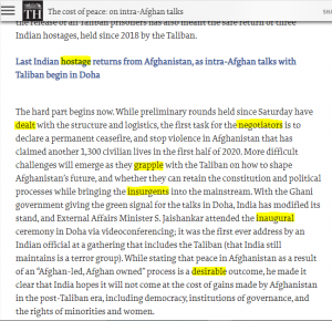 The Hindu Editorial Vocabulary- The Cost Of Peace | 15 September 2020_60.1