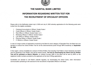 Nainital Bank To Conduct Online Exam Through IBPS On 28th September- Check Details Here_50.1