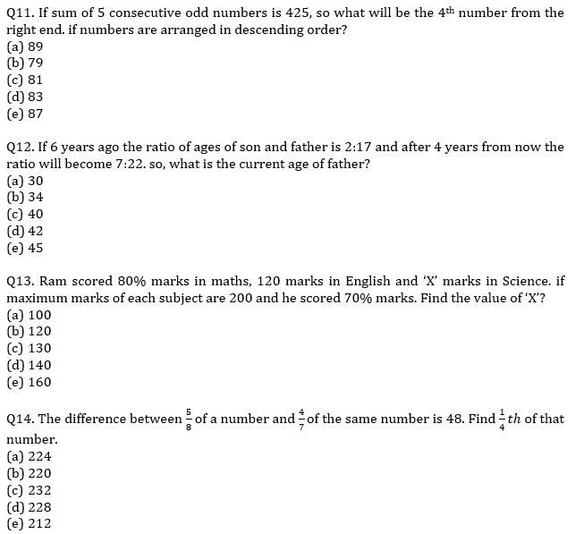IBPS PO Prelims Quantitative Aptitude Mini Mock 30- Average, Ages and Number System_80.1