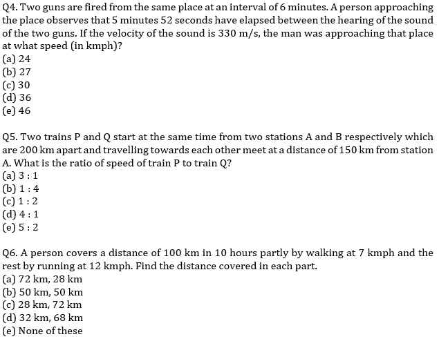 IBPS PO Prelims Quantitative Aptitude Mini Mock 32- Speed Time Distance_70.1