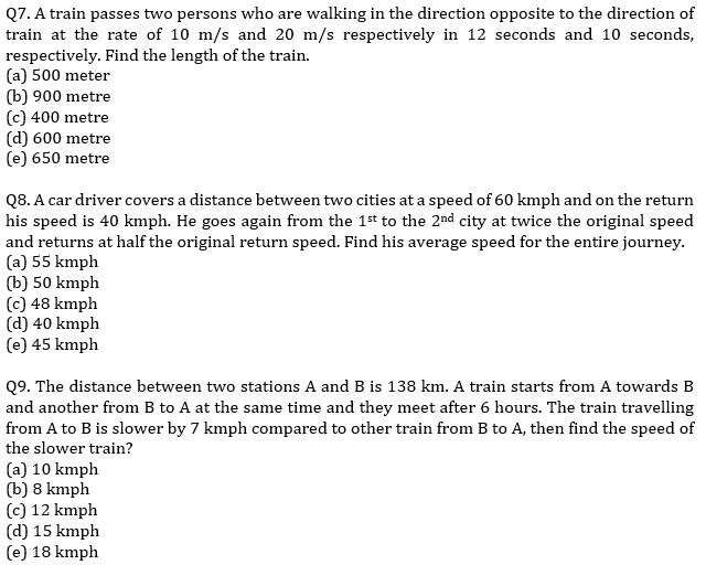 IBPS PO Prelims Quantitative Aptitude Mini Mock 32- Speed Time Distance_80.1