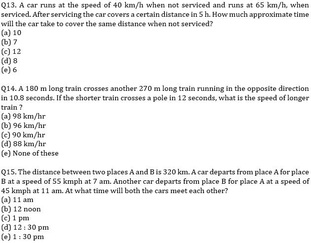 IBPS PO Prelims Quantitative Aptitude Mini Mock 32- Speed Time Distance_100.1