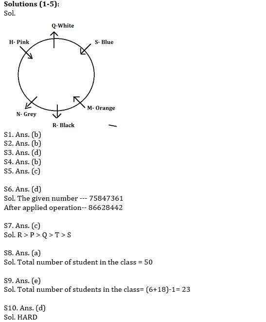 IBPS PO Prelims Reasoning Ability Mini Mock 32- Puzzle & Inequalities_60.1
