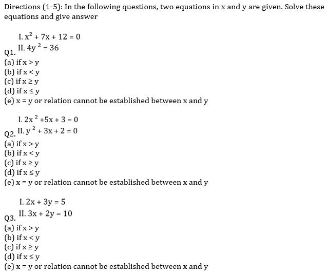 IBPS RRB Prelims Quantitative Aptitude Mini Mock 16- Quadratic Inequalities_50.1