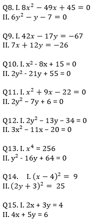 IBPS RRB Prelims Quantitative Aptitude Mini Mock 16- Quadratic Inequalities_70.1