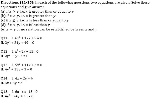 IBPS PO Prelims Quantitative Aptitude Mini Mock 35- Quadratic Inequalities_70.1