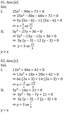 IBPS PO Prelims Quantitative Aptitude Mini Mock 35- Quadratic Inequalities_80.1