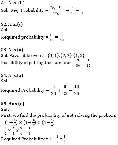 IBPS PO Prelims Quantitative Aptitude Mini Mock 36- Simple Interest & Compound Interest, Probability and Permutation & Combination_100.1