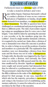The Hindu Editorial Vocabulary of 22 September- A Point of Order_50.1