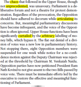 The Hindu Editorial Vocabulary of 22 September- A Point of Order_60.1