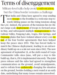 The Hindu Editorial Vocabulary of 25 September- Terms of Disengagement_50.1