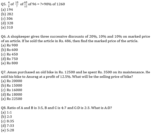 IBPS PO Prelims Quantitative Aptitude Mini Mock 41- Practice Set_60.1