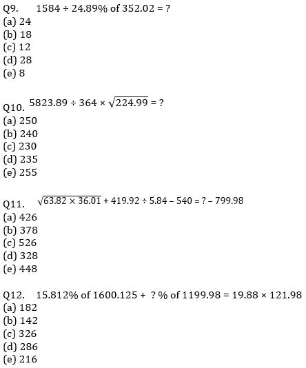 IBPS Clerk Prelims Quantitative Aptitude Mini Mock 1- Approximation_80.1